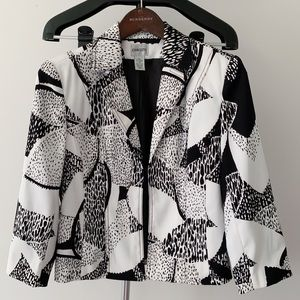 CHICO's Black & White Pattern Blazer